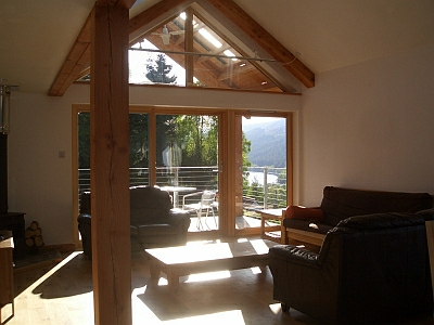 View from lounge area of Rathad an Drobhair Self Catering in Strathconon